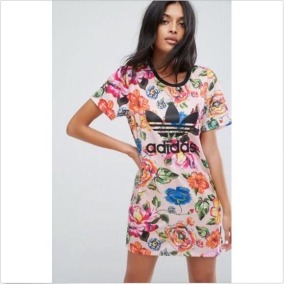 Adidas Original Women's Floralita Tee Shirt Dress